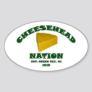 Cheesehead Nation Oval Sticker