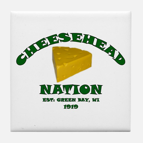 Cheesehead Nation Tile Coaster