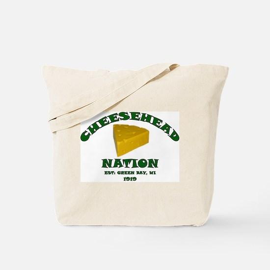 Cheesehead Nation Tote Bag