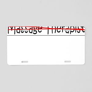Job Mom Massage Therapist Aluminum License Plate