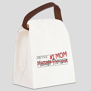 Job Mom Massage Therapist Canvas Lunch Bag