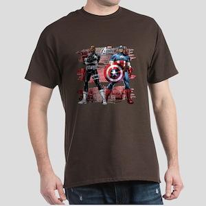Captain America and Nick Fury Dark T-Shirt