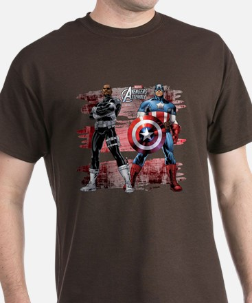 Captain America and Nick Fury T-Shirt