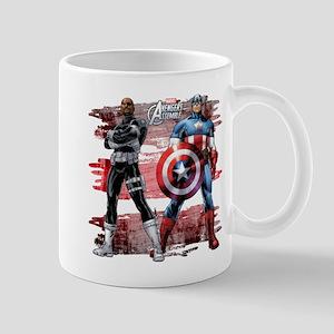 Captain America and Nick Fury Mug