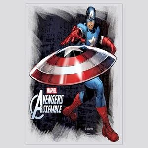 Captain America with Shield Wall Art