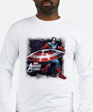 Captain America with Shield Long Sleeve T-Shirt