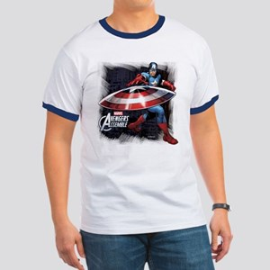 Captain America with Shield Ringer T
