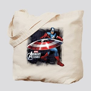 Captain America with Shield Tote Bag
