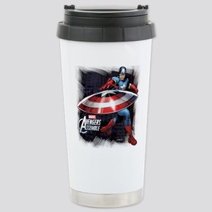 Captain America with Sh Stainless Steel Travel Mug