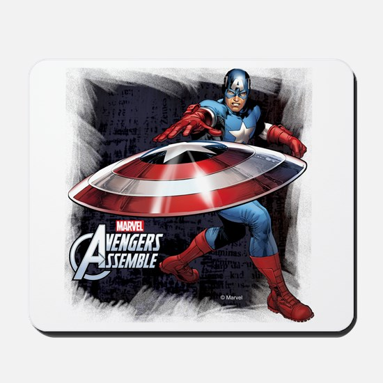 Captain America with Shield Mousepad