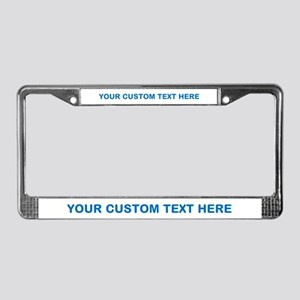 Blue CUSTOM TEXT License Plate Frame