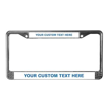 blue custom text license plate frame - Doctor Who License Plate Frame