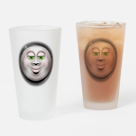Full Moon Smiling Face 3D Drinking Glass