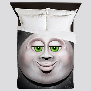 Full Moon Smiling Face 3D Queen Duvet