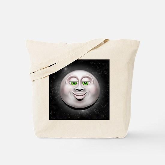 Full Moon Smiling Face 3D Tote Bag