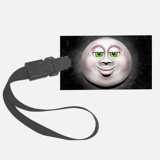 Full Moon Smiling Face 3D Luggage Tag