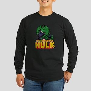 Hulk Reaching Long Sleeve Dark T-Shirt