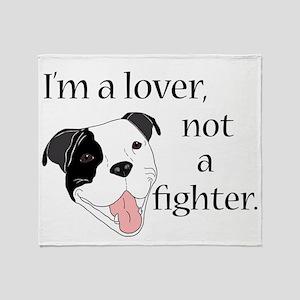 Pitbull Lover Throw Blanket