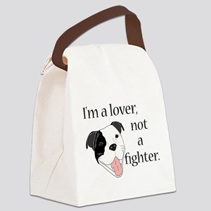 Pitbull Lover Canvas Lunch Bag