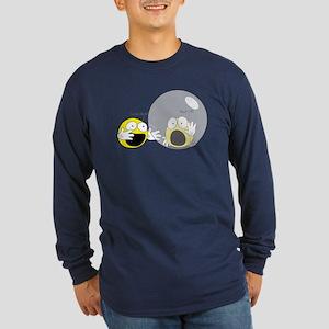 Introvert Hamster Ball Long Sleeve Dark T-Shirt