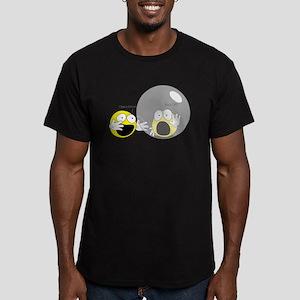 Introvert Hamster Ball Men's Fitted T-Shirt (dark)