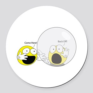 Introvert Hamster Ball Round Car Magnet