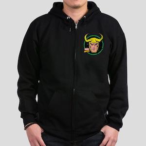 Loki Circle Zip Hoodie (dark)