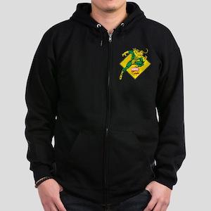 Loki Diamond Zip Hoodie (dark)