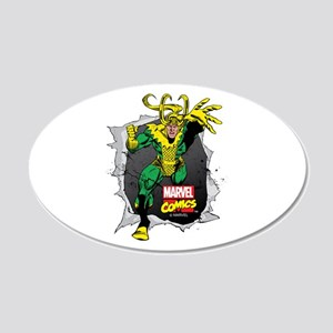 Loki Ripped 20x12 Oval Wall Decal