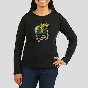 Loki Ripped Women's Long Sleeve Dark T-Shirt