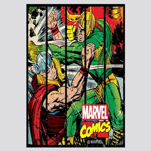 Marvel Loki and Thor Wall Art