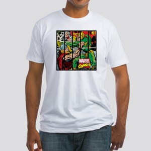 Marvel Loki and Thor Fitted T-Shirt