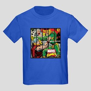 Marvel Loki and Thor Kids Dark T-Shirt