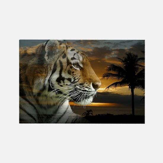 Tiger Sunset Magnets