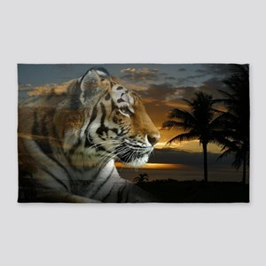 Tiger Sunset 3'x5' Area Rug