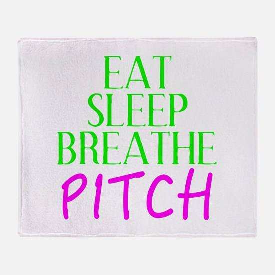 Eat Sleep Breathe Pitch Throw Blanket