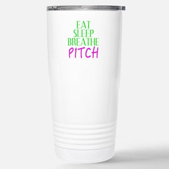 Eat Sleep Breathe Pitch Travel Mug