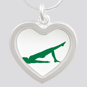 Pilates Silver Heart Necklace