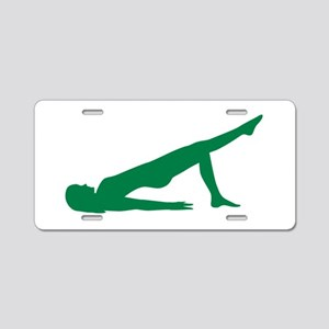 Pilates Aluminum License Plate