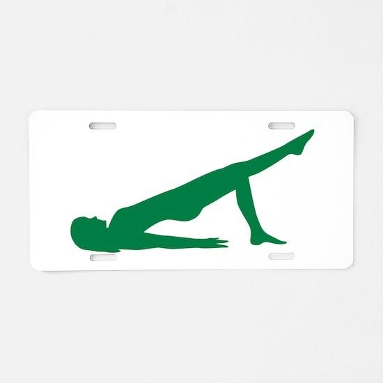 Pilates Aluminum License Plate