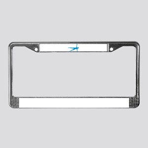 Pilates woman License Plate Frame