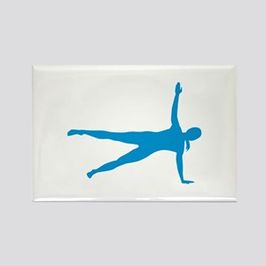 Pilates woman Rectangle Magnet