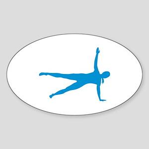 Pilates woman Sticker (Oval)