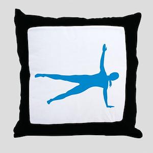 Pilates woman Throw Pillow