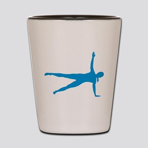 Pilates woman Shot Glass