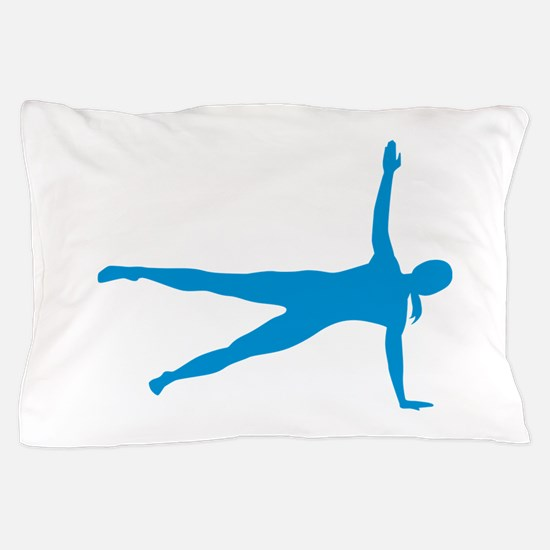 Pilates woman Pillow Case