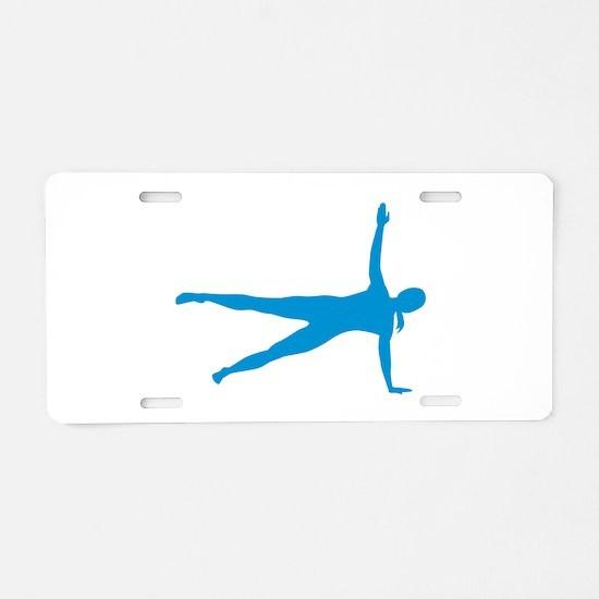 Pilates woman Aluminum License Plate