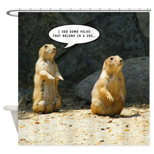 Prairie Dog Humor Shower Curtain By Curtainsforshowers