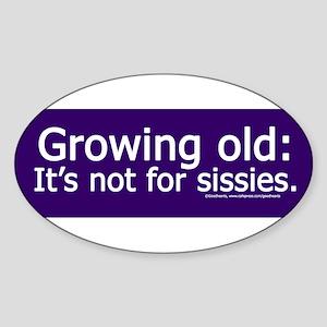 Growing Old.jpg Sticker