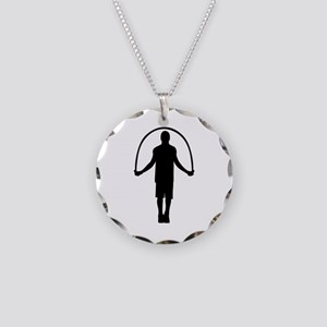 Jump rope Necklace Circle Charm